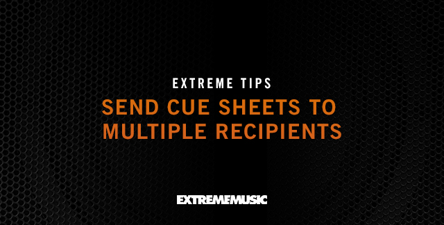 Art for SEND CUE SHEETS TO MULTIPLE RECIPIENTS.